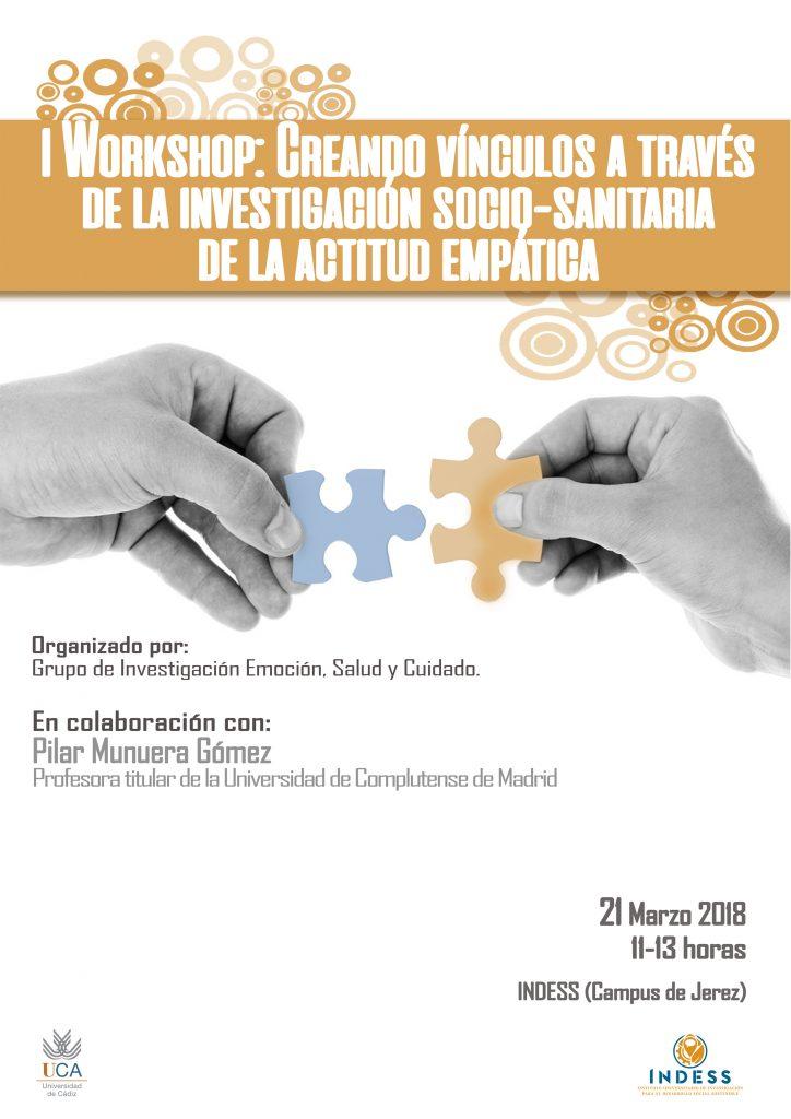I Workshop: Creando vínculos a través de la investigación socio-sanitaria de la actitud empática.
