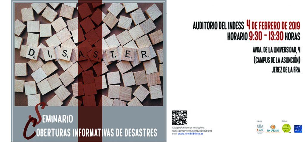 Seminario 'Cobertura informativa de desastres'