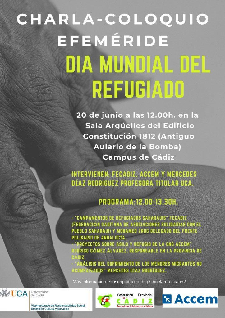 """INFORMACIÓN UCA Charla-Coloquio Celebración Efeméride """"Día Mundial del Refugiado"""""""