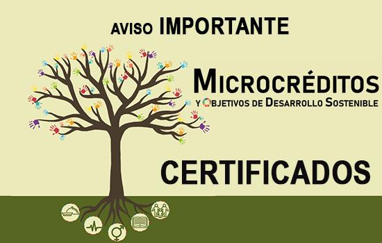 CERTIFICADOS MICROCRÉDITOS