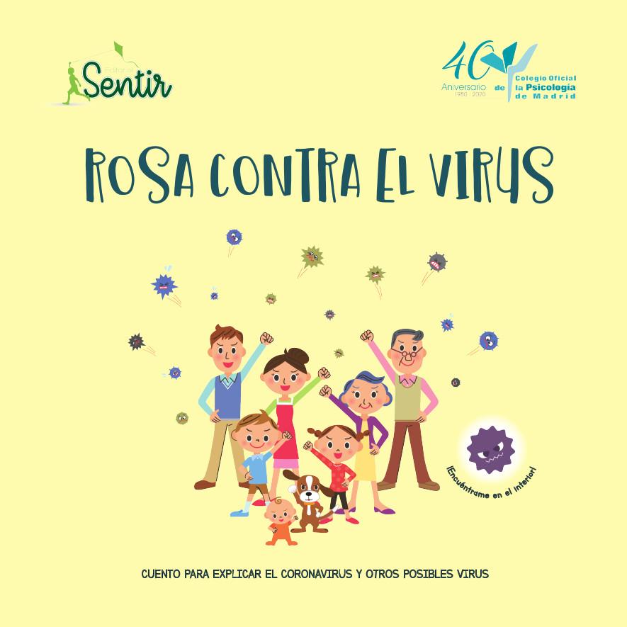 Rosa contra el virus. autor: colegio oficinal de psicólogía madrid