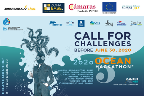 El INDESS participa en la semifinal del Ocean Hackathon 2020 que se celebra por primera vez en Cádiz del 9 al 11 de octubre con el reto. CA08 Mobile APP to promote a new Blue Tourism Model, safer, smarter, more inclusive and sustainable