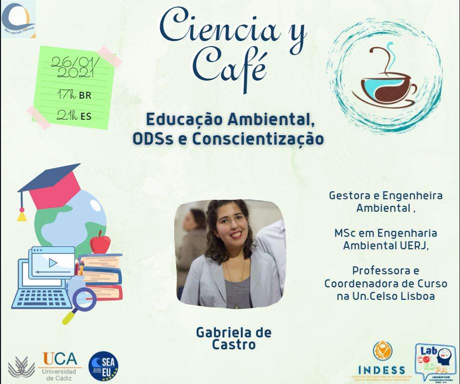 """IMG El Laboratorio Social COEDPA inicia su programa de actividades de 2021 con el Ciencia y Café """"Educación ambiental, ODS y concienciación"""" para celebrar las efemérides Día Internacional de la Educación y el Día Mundial de la Educación Ambiental con la actividad"""