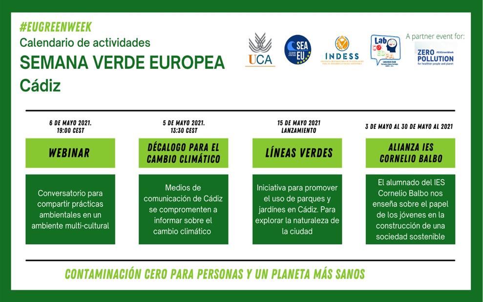 El INDESS celebra #EUGreenWeek 2021 a través de la Semana Verde Europea promovida por el Laboratorio Social COEDPA